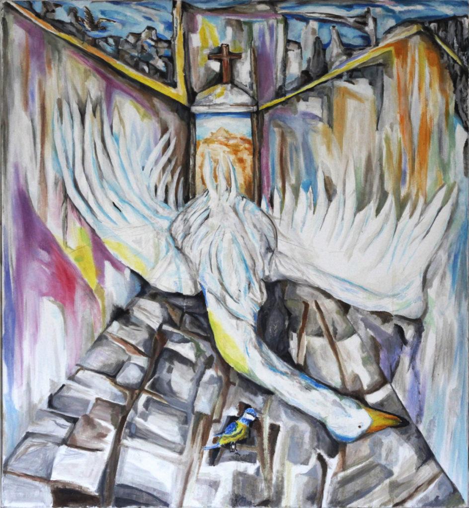 Kalle Karvinen, Do We Still Have the Hope, 2017, 1050 x 1150mm, Oil on Canvas.