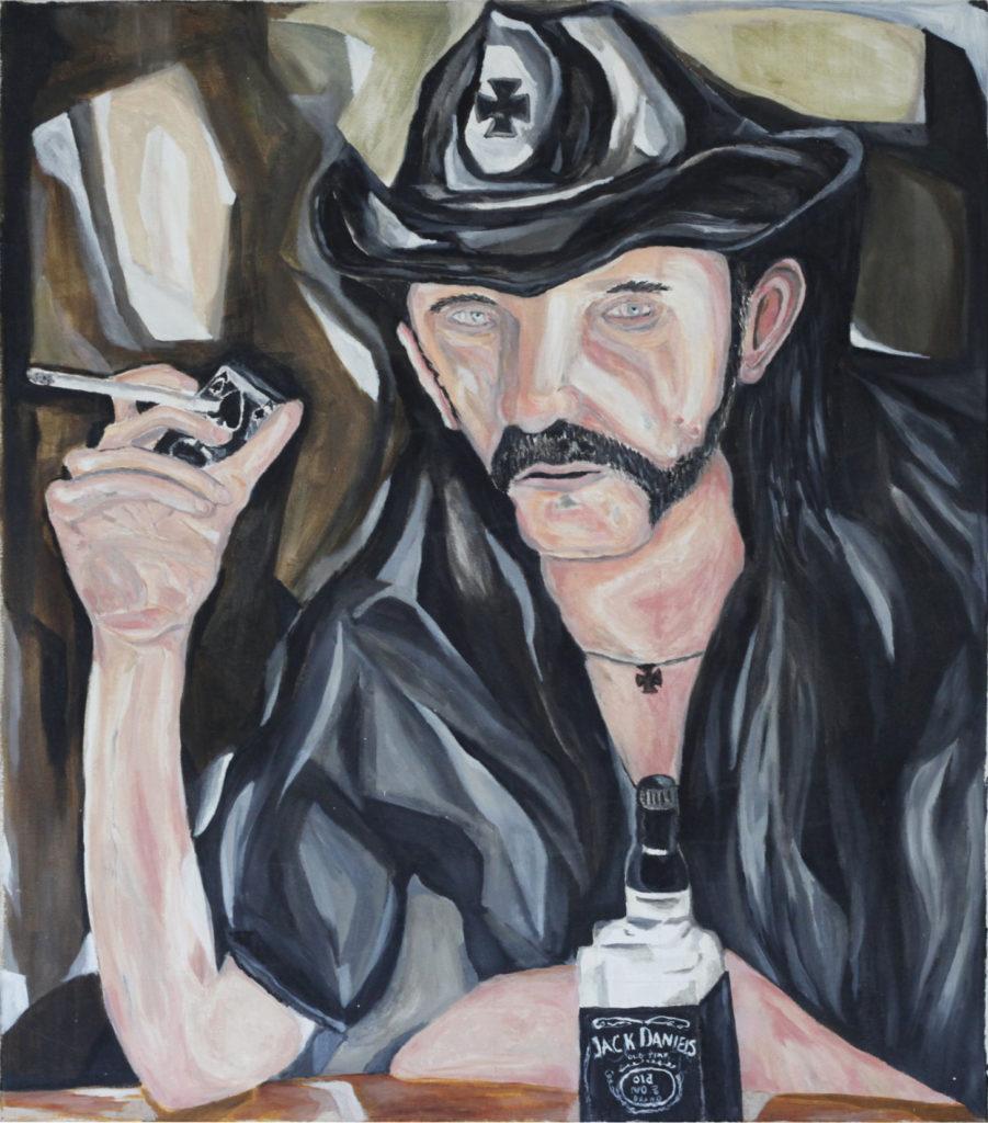 Kalle Karvinen, Lemmy, 2016, 810 x 920mm, Oil on Canvas.