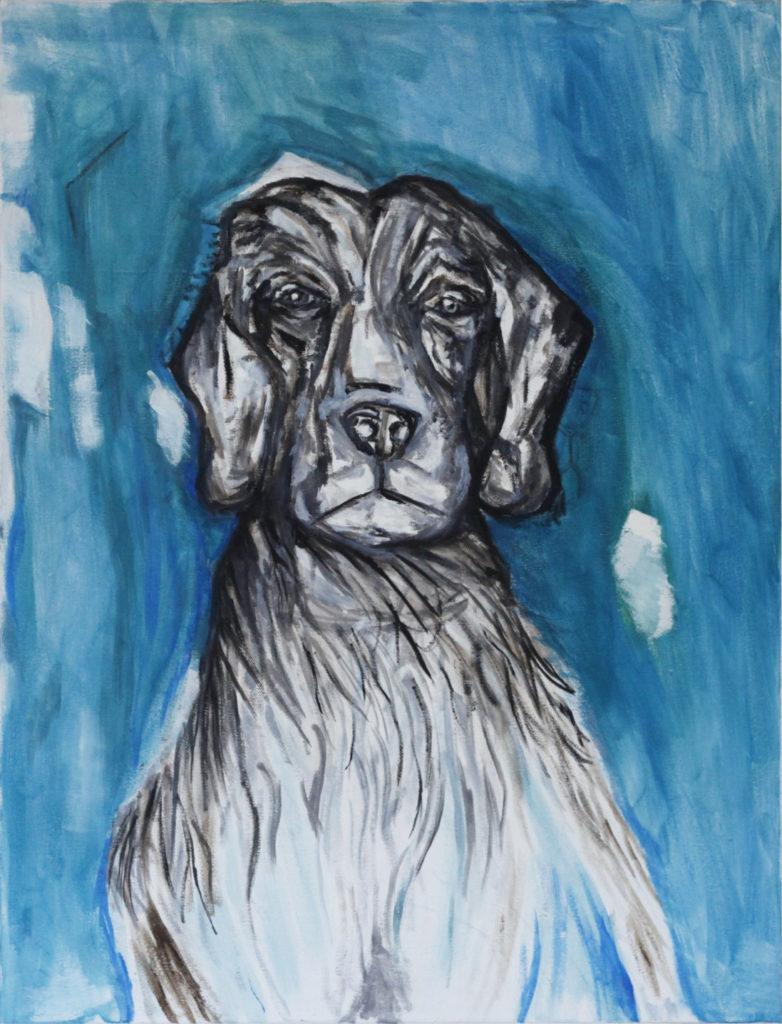 Kalle Karvinen, Lost Friend, 2017, 650 x 850mm, Oil on Canvas.